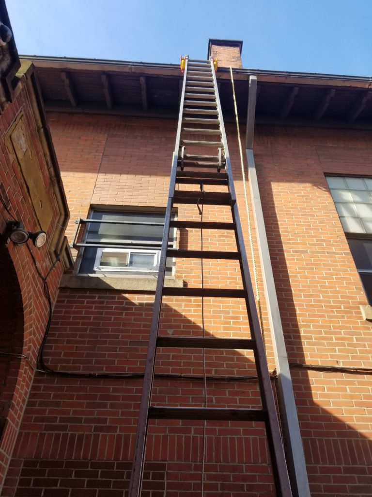 Lock Jaw Ladder Grip used to stabilise a ladder. Exceptional ladder safety accessory.