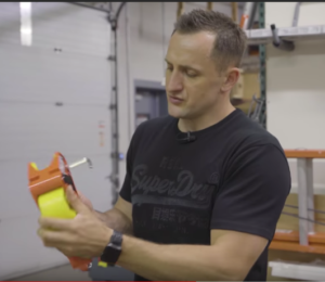 Dmitry Lipinsky expert in roofing with 20K YouTube subscribers . Review by Roofing Insights of Lock Jaw Ladder Grip. The best Ladder Grip on the market.